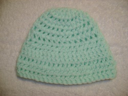 Pale Green crochet hat.JPG